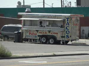 Meth tacos that comes to you from a near by taco truck