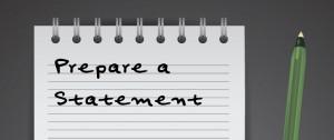 Prepare a Statement
